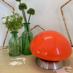 Lampe Opaline Orange Vintage