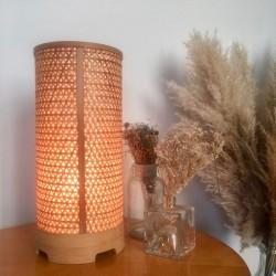 Lampe Rotin Vintage