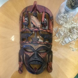 Masque Africain en Bois Massif