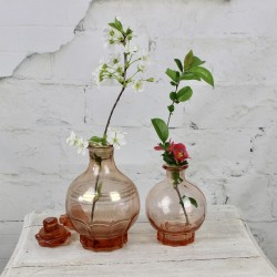 Lot de deux Carafes Rose